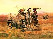 Charles M Russell - When Blackfeet meet Sioux