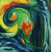 Healing Art Paintings - When Fire Dreams by Jennifer Christenson