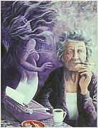 Ashtray Paintings - When Im an Old Woman by Lee Bowerman