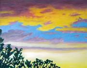 Clouds Sunset Painting Prints - When Im Gone Print by Brian  Commerford