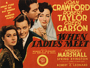 Greer Prints - When Ladies Meet, Greer Garson, Herbert Print by Everett
