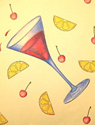 Lemon Drawings - When life gives you lemons by Julie Reed