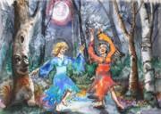 Fairies Framed Prints - When Middle Aged Fairies.. Framed Print by Patricia Allingham Carlson