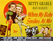 Grable Framed Prints - When My Baby Smiles At Me, Dan Dailey Framed Print by Everett