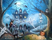 Haunted Hills Posters - When October Comes Poster by Shana Rowe