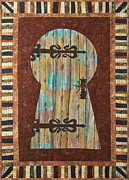 Fabric Art Tapestries - Textiles Posters - When One Door Closes Another One Opens Poster by Patty Caldwell