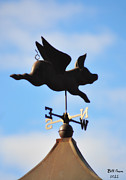 Weather Vane Prints - When Pigs Fly Print by Bill Cannon