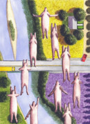 Flying Posters - When Pigs Fly Poster by Catherine G McElroy