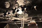 Dada Art - When Pigs Fly by Wingsdomain Art and Photography