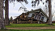 Old House Photo Originals - When push comes to shove by Jeffrey Platt