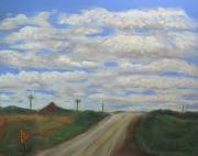 Open Pastels - When Road Met Sky by Cindy Morawski