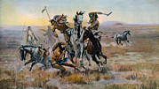 1910s Candid Posters - When Sioux And Blackfeet Met, Battle Poster by Everett