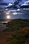York Beach Metal Prints - When The Lights Go Down Metal Print by Tom York