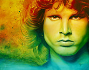 Jim Morrison Painting Posters - When the Musics Over Poster by Scott Spillman