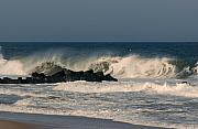 Seascapes - When the Ocean Speaks - Jersey Shore by Angie McKenzie