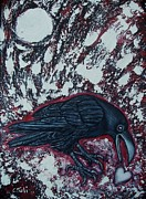 Claudia Tuli Metal Prints - When The Raven Returned The Light Metal Print by Claudia Tuli