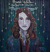 Neptune Painting Prints - When The Stars Fall for Brandi Carlile Print by Laurie Maves