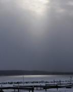 When The Sun Broke Through On Canandaigua Lake 2011 Print by Joseph Duba
