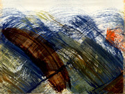 Stormy Weather Paintings - When the sun doth light a storm by Kimanthi Toure