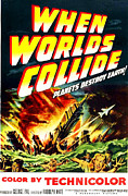 1950s Movies Prints - When Worlds Collide, Poster Art, 1951 Print by Everett