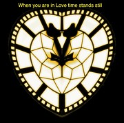 Clock Hands Mixed Media Framed Prints - When you are in Love Framed Print by Blair Stuart