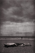 Stormy Digital Art Metal Prints - When Youre All Alone In This Life Metal Print by Laurie Search