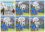 Barack Obama Framed Prints - Where Do Babies Come From Framed Print by Kevin  Marley