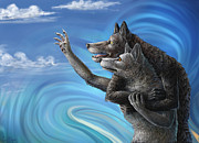 Wolf Digital Art Metal Prints - Where Does the Love Go? Metal Print by Cara Bevan