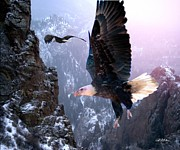 Eagles Digital Art - Where Eagles Dare by Bill Stephens