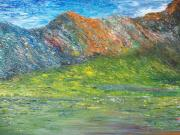 Impasto Paintings - Where Eagles fly    Brian by Conor Murphy