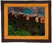 Cityscape Tapestries - Textiles - Where Generations Have Lived by Martha Ressler