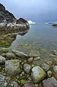 Icebergs Photos - Where Giants Rule by Robert Lacy
