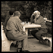 Checkmate Photo Prints - Where Is Bobby Fischer Print by Madeline Ellis