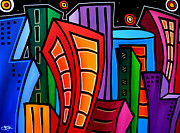 Large Abstract Acrylic Paintings - Where Its At by Tom Fedro - Fidostudio