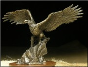 Patriotic Sculptures - Where Only Eagles Dare by Michael Boyett