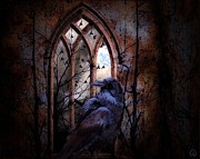 Ruin Digital Art - Where raven reigns by Gun Legler