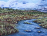 Sky Pastels - Where the river runs by Tracey Hunnewell