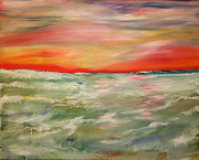 Seascape Paintings - Where the Sky meets the Sea by James Bryron Love