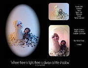 Figurine Mixed Media - Where There is Light There is Always a Little Shadow by Carrie Lee Wendt