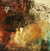 Abstract Art In Earthtone Colors Posters - Where Theres A Will  Poster by Michel  Keck