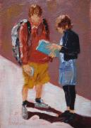Couples Paintings - Where to Now by Barbara Andolsek