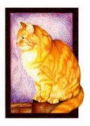 Domestic Pet Portrait Prints - Wheres My Dinner Print by Sheryl Unwin