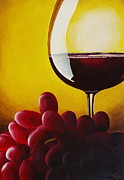 Wine Reflection Art Painting Metal Prints - Wheres the Cheese Metal Print by David George