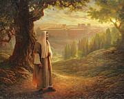 Jerusalem Painting Posters - Wherever He Leads Me Poster by Greg Olsen
