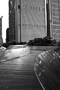 Chicago Black White Metal Prints - Wherever The Path May Take You Metal Print by Daniel Chen