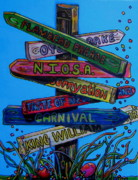 Fiesta Prints - Which Way Print by Patti Schermerhorn