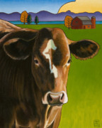 Bovine Art - Whidbey Rose by Stacey Neumiller