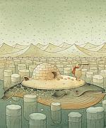 Whale Prints - While and Polar Bear Print by Kestutis Kasparavicius