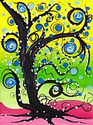 Coin Prints - Whims Tree Print by  Abril Andrade Griffith