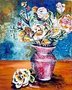 Stillife Mixed Media - Whimsical Bouquet by Amanda  Sanford
